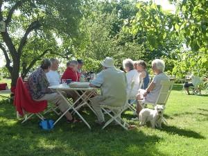 Café Kex - i trädgården