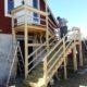 2013 - Kex baut eine weniger steile neue Treppe vor der Ferienwohnung