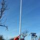 2015 - Kex´Wunsch geht endlich in Erfüllung: ein Flaggenmast im Garten!